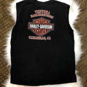 Harley Davidson Logo Muscle Tee